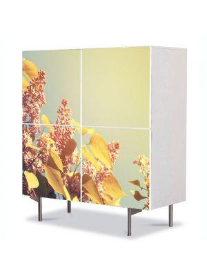 Comoda cu 4 Usi Art Work Peisaje Lilieci, 84 x 84 cm