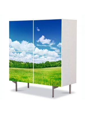 Comoda cu 4 Usi Art Work Peisaje Peisaj utopic, 84 x 84 cm