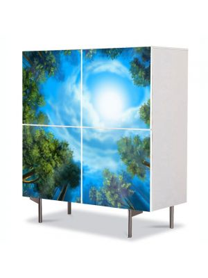 Comoda cu 4 Usi Art Work Peisaje Triunghiul bermudelor, 84 x 84 cm