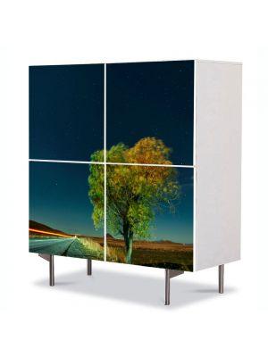 Comoda cu 4 Usi Art Work Peisaje Viteza, 84 x 84 cm