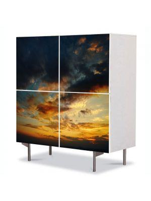 Comoda cu 4 Usi Art Work Peisaje Razboi, 84 x 84 cm