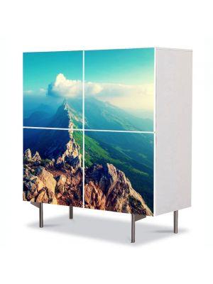 Comoda cu 4 Usi Art Work Peisaje Pe creasta muntelui, 84 x 84 cm