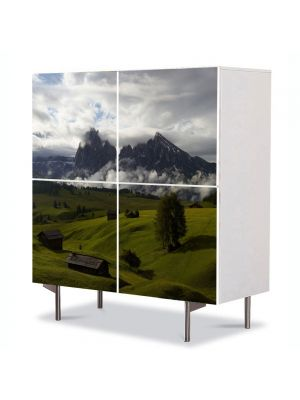 Comoda cu 4 Usi Art Work Peisaje Se pregateste sa ploua, 84 x 84 cm