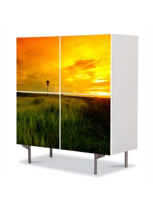 Comoda cu 4 Usi Art Work Peisaje Apus superb, 84 x 84 cm