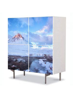 Comoda cu 4 Usi Art Work Peisaje Cel mai inalt munte, 84 x 84 cm