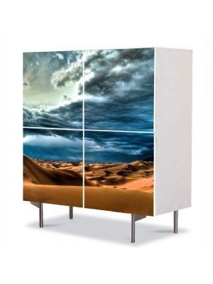 Comoda cu 4 Usi Art Work Peisaje Cer peste desert, 84 x 84 cm