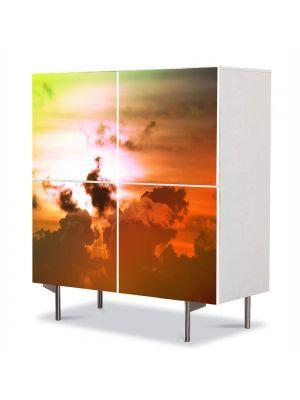 Comoda cu 4 Usi Art Work Peisaje Culori fantastice pe cer, 84 x 84 cm