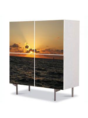 Comoda cu 4 Usi Art Work Peisaje Aproape noapte, 84 x 84 cm