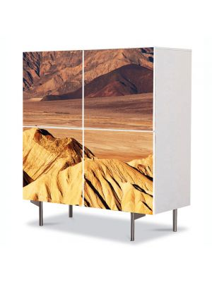 Comoda cu 4 Usi Art Work Peisaje Dune de nisip, 84 x 84 cm