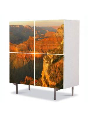 Comoda cu 4 Usi Art Work Peisaje Canion, 84 x 84 cm