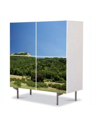 Comoda cu 4 Usi Art Work Peisaje Podis, 84 x 84 cm