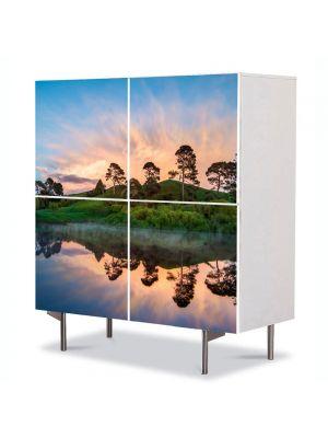 Comoda cu 4 Usi Art Work Peisaje Olginda perfecta, 84 x 84 cm