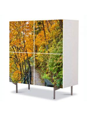 Comoda cu 4 Usi Art Work Peisaje Poteca lunga, 84 x 84 cm