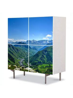Comoda cu 4 Usi Art Work Peisaje Venezuela, 84 x 84 cm