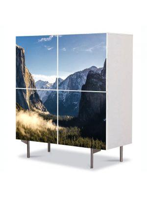 Comoda cu 4 Usi Art Work Peisaje Stanci, 84 x 84 cm