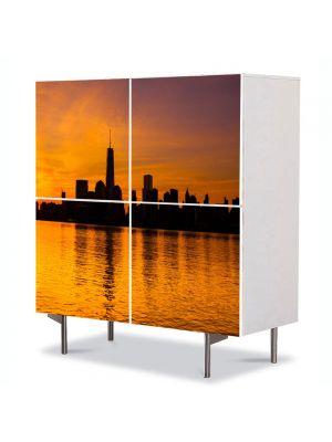 Comoda cu 4 Usi Art Work Peisaje New York, 84 x 84 cm