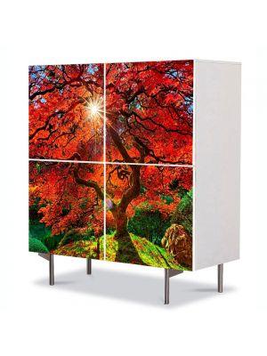 Comoda cu 4 Usi Art Work Peisaje Copacul fantastic, 84 x 84 cm