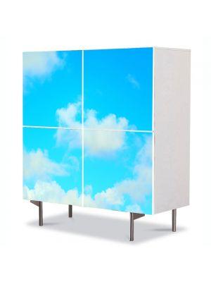 Comoda cu 4 Usi Art Work Peisaje Nori usori, 84 x 84 cm