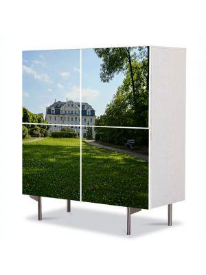 Comoda cu 4 Usi Art Work Peisaje La palat, 84 x 84 cm