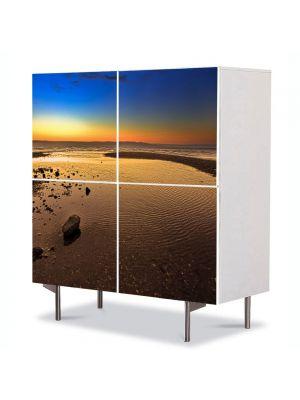 Comoda cu 4 Usi Art Work Peisaje Plaja imensa, 84 x 84 cm