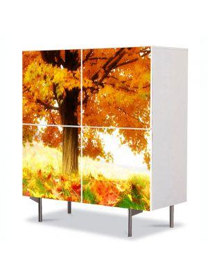 Comoda cu 4 Usi Art Work Peisaje La umbra copacului, 84 x 84 cm
