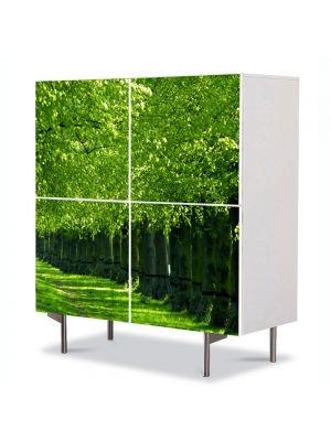 Comoda cu 4 Usi Art Work Peisaje Verde intens, 84 x 84 cm