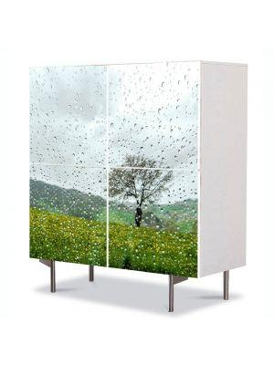 Comoda cu 4 Usi Art Work Peisaje Plouat, 84 x 84 cm