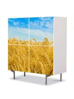 Comoda cu 4 Usi Art Work Peisaje Campie cu grau, 84 x 84 cm
