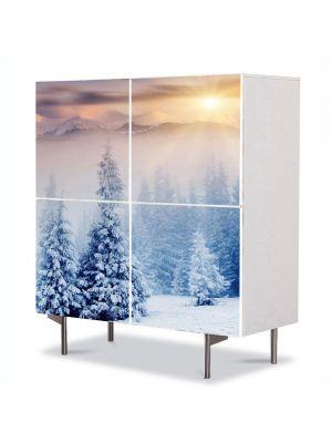 Comoda cu 4 Usi Art Work Peisaje Doi brazi inzapeziti, 84 x 84 cm