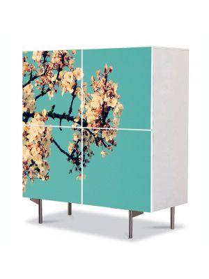 Comoda cu 4 Usi Art Work Peisaje In sus, 84 x 84 cm