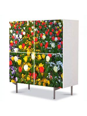 Comoda cu 4 Usi Art Work Peisaje O multitudine de culori, 84 x 84 cm