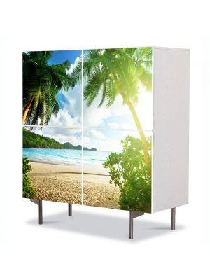 Comoda cu 4 Usi Art Work Peisaje Palmieri, 84 x 84 cm