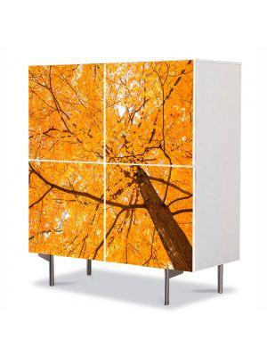 Comoda cu 4 Usi Art Work Peisaje Coroana galbena, 84 x 84 cm
