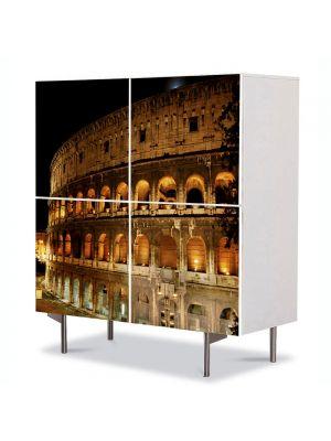 Comoda cu 4 Usi Art Work Urban Orase Amfiteatru in Roma, 84 x 84 cm