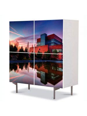 Comoda cu 4 Usi Art Work Urban Orase Culori fabuloase, 84 x 84 cm