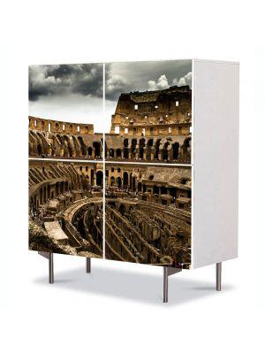 Comoda cu 4 Usi Art Work Urban Orase Colosseum Roma Italia, 84 x 84 cm
