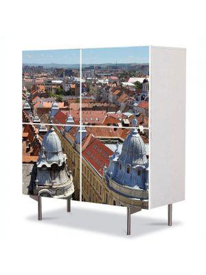 Comoda cu 4 Usi Art Work Urban Orase Cluj in centru, 84 x 84 cm