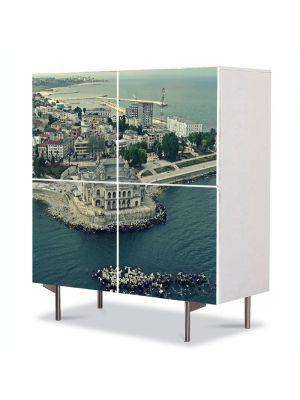 Comoda cu 4 Usi Art Work Urban Orase Cazinou Constanta de sus, 84 x 84 cm