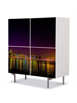 Comoda cu 4 Usi Art Work Urban Orase Baltimore Statele unite ale Americii, 84 x 84 cm