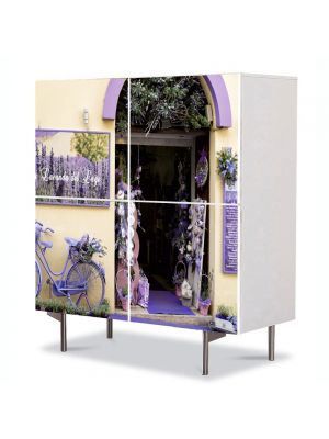 Comoda cu 4 Usi Art Work Urban Orase Magazin de levantica, 84 x 84 cm