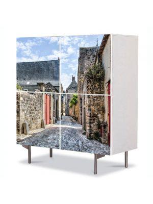 Comoda cu 4 Usi Art Work Urban Orase Le mans Franta, 84 x 84 cm