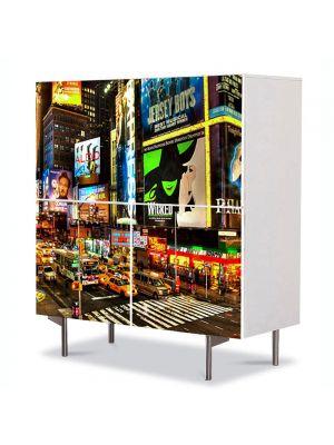Comoda cu 4 Usi Art Work Urban Orase Reclame in New York, 84 x 84 cm