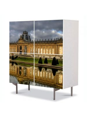 Comoda cu 4 Usi Art Work Urban Orase Belgia, 84 x 84 cm
