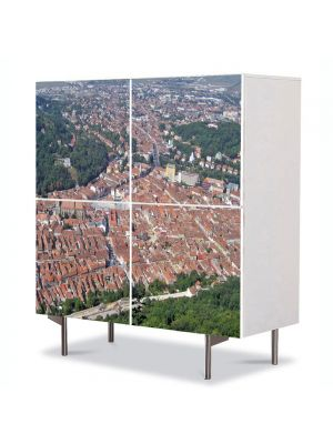 Comoda cu 4 Usi Art Work Urban Orase Brasov de sus, 84 x 84 cm