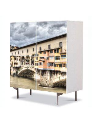 Comoda cu 4 Usi Art Work Urban Orase florenta Italia, 84 x 84 cm