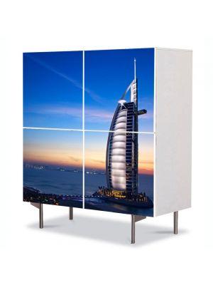 Comoda cu 4 Usi Art Work Urban Orase Hotel in Dubai, 84 x 84 cm