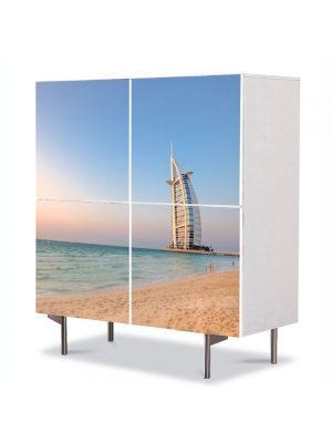Comoda cu 4 Usi Art Work Urban Orase Burj al Arab Dubai Emiratele Arabe Unite, 84 x 84 cm