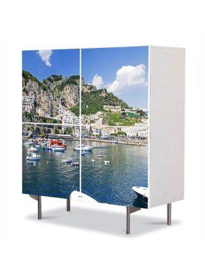 Comoda cu 4 Usi Art Work Urban Orase Monte Cerreto Italia, 84 x 84 cm