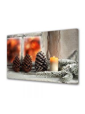 Tablou Canvas Iarna Decoratiuni la geam
