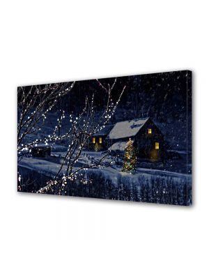 Tablou Canvas Iarna In noaptea de Craciun